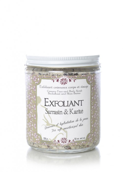 Body and Face Exfoliant Scrub - Buckwheat & Shea Butter